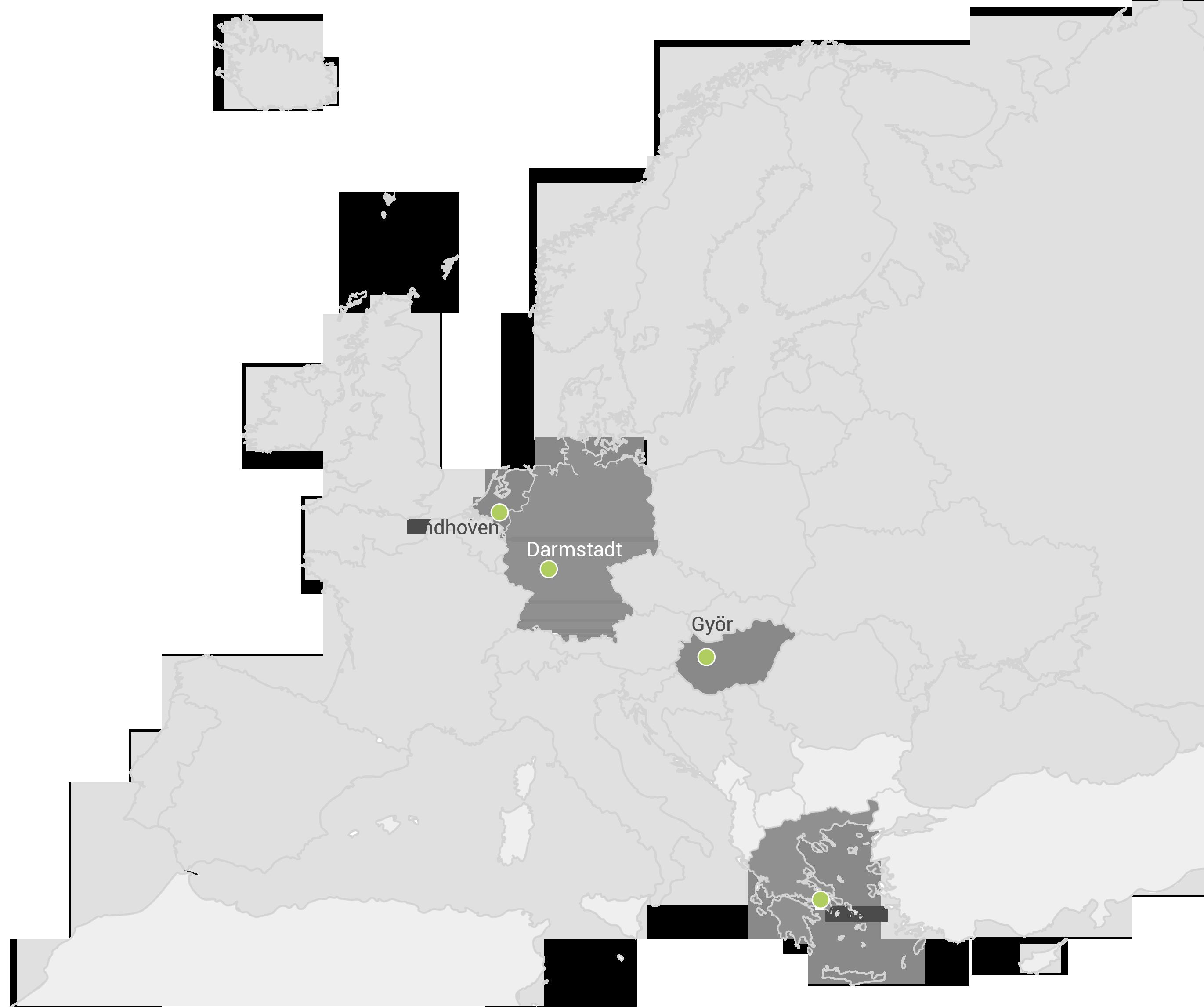 europe map vectors